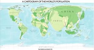 Cartogram of World Population