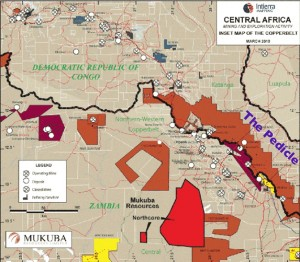 Map of Mines in the Zambia/Congo Copperbelt