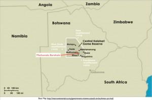 San Bushmen Mothomelo Kalahari Borehole Map