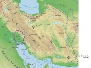 Iran Physical Geography and Khuzestan Map