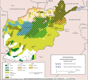 Map of Ethnic Groups in Afghanistan