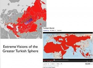 Maps of Extreme Interpretations of the Greater Turkish World