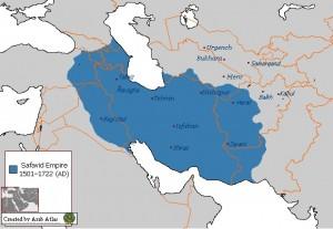 Map of Persian Safavid Empire