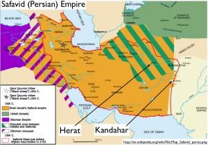 Wikipedia Map of the Persian Safavid Empire