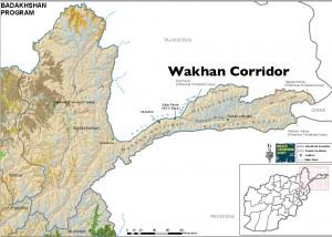 Map of Wakhan Corridor, Afghanistan