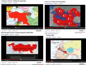 Maps of Greater Turkey fro YouTube Videos
