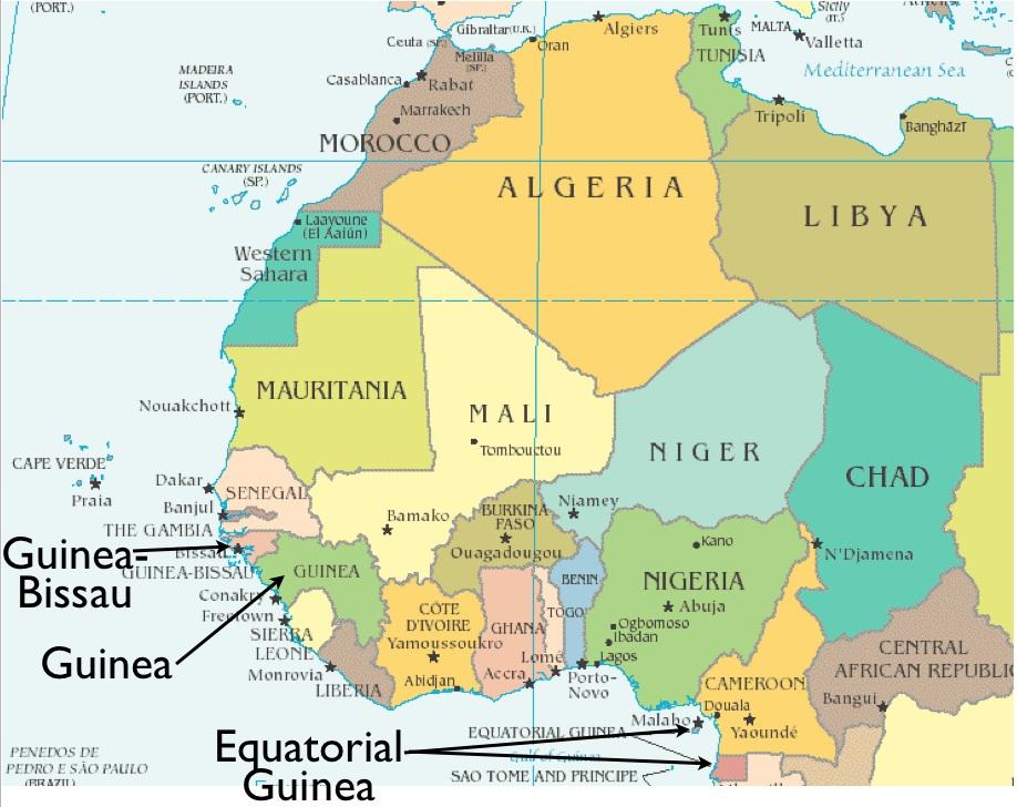 Guinea Africa Map Guinea Map Of Africa   Map Of Africa
