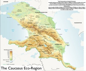Map of the Larger Caucasus Eco-Region