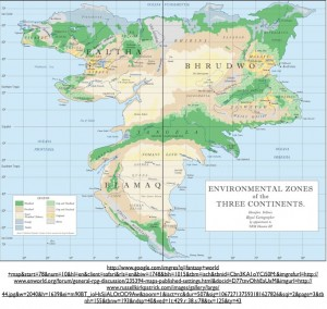 Map of Imaginary Planet with Environmental Zones
