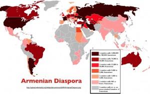 Wikipedia map of the recent Armenian Diaspora