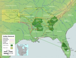 Wikipedia Trail of Tears Map