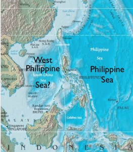 Philippine Sea Map The South China Sea or the West Philippine