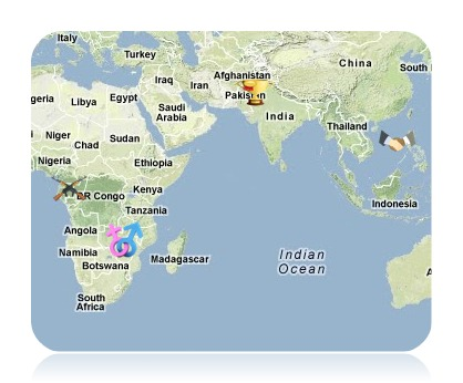 GeoCurrents Current Events News Map