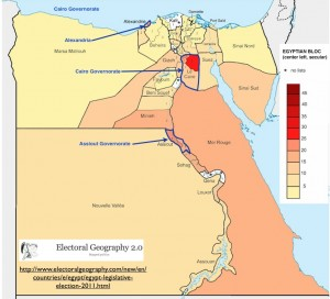 Egyptian Block Vote Map from Electoral Politics 2.0