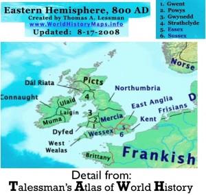 British Isles 400 CE Map from Talessman's Atlas