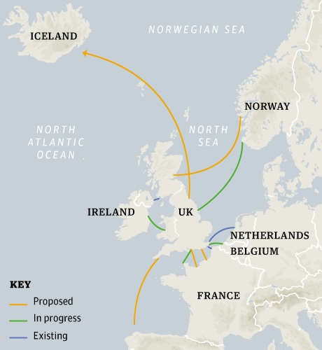 Map Of Iceland And Uk Iceland to Export Electricity to Britain?