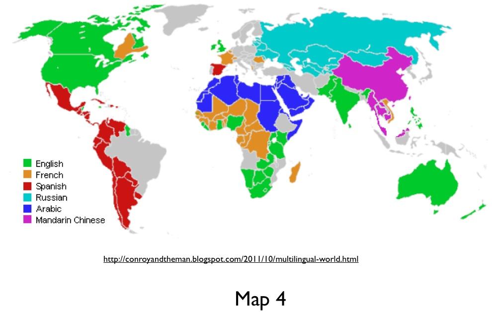 World Language Map Misleading Language Maps on the Inter| GeoCurrents World Language Map