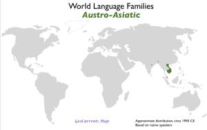 Austro-Asiatic Language Family Map