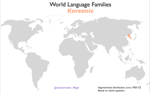 Koreanic language family map
