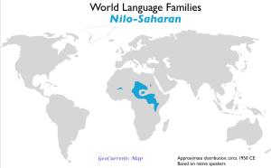 Nilo-Saharan Language Family Map