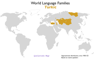 Turkic Language Family Map