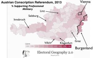 Austrian Conscription Election Map