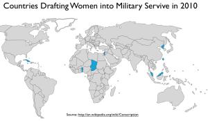 Conscription of Women Map