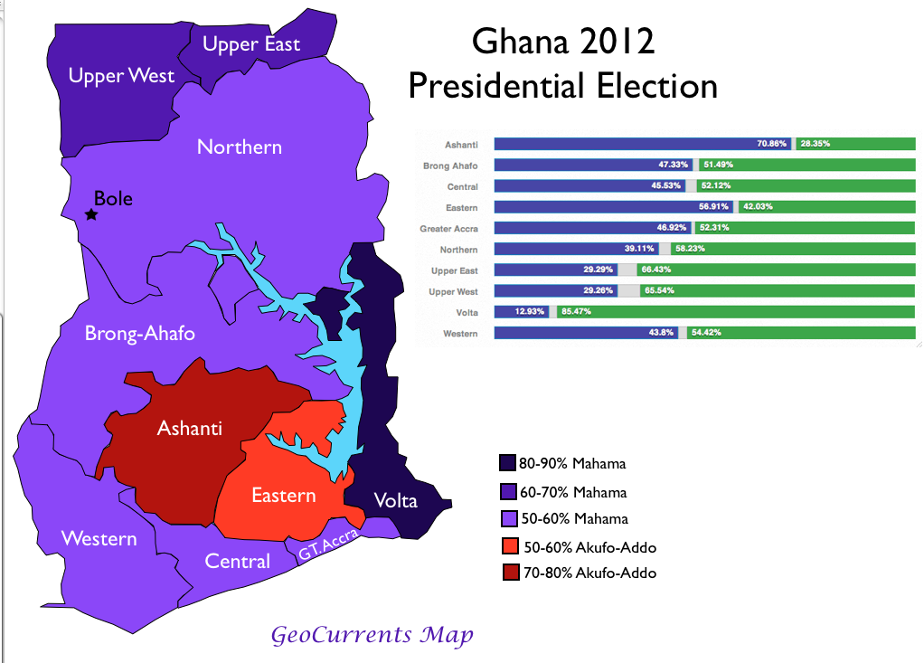 Ethnic Map Of Ghana Ethnicity and Political Division in Ghana