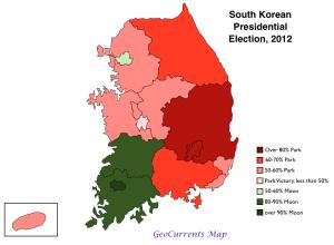 South Korea 2012 Presidential Election Map