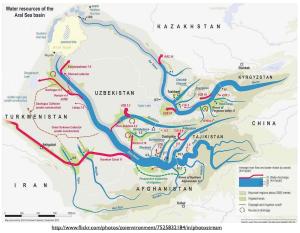 Aral Sea Water Map