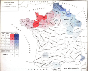 Cider Beer Consumption France 1873 Map