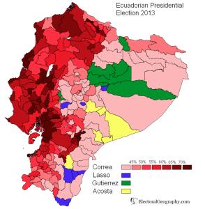 Ecuador 2013 Election Map