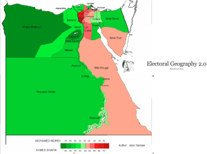 Egyprian Presidential Election Map