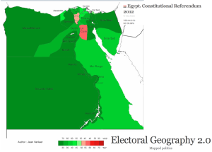 Egyptian Constitutional Referendum Map