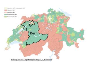 Switzerland Bern Religion Map
