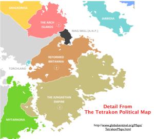 Tetrakon Map detail