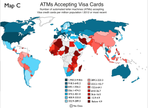 ATMs Accepting Visa Cards Map
