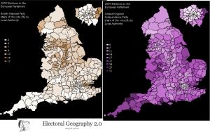 BNP UKIP 2009 Vote Map