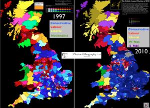 Britain 1997 2010 election maps