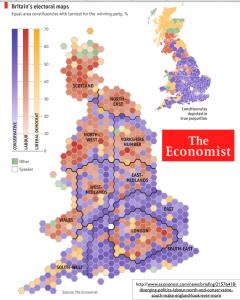 Britain 2010 Economist Election Map