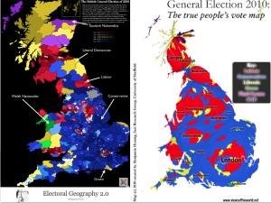 Britain 2010 Election Map Cartogram