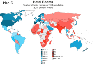 Hotel Rooms World Map