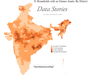 Indian Households without Assets map