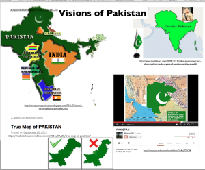 """Maps of """"greater Pakistan"""""""