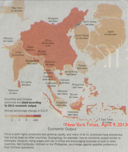 NY Times China Economic Cartogram