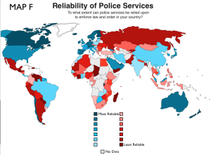 Reliability of Police Service World Map