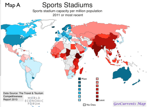 Sports Stadiums World Map