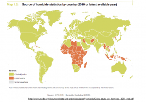 Homicide Data Source map
