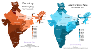 India Fertility Electrification Map