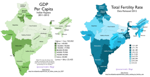 India Fertility GDP Map